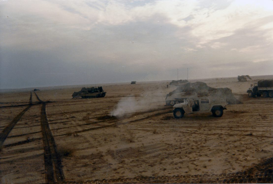 C troop 1/3 ACR in an Israeli Box formation, Desert Storm